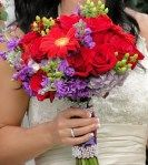 Wedding Flowers By On- Purple-19  Purple and Red Bouquet