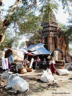 Marché de Bagan, Birmanie (2008)