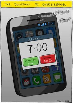 The solution to oversleeping. haha
