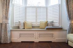 Bespoke window seat with fabrics by Kravet, Zoffany and Romo