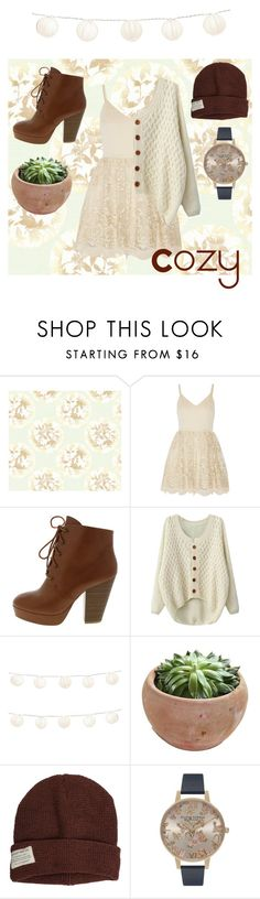 Slouchy by lizzy-wheeler on Polyvore featuring Alice + Olivia, Olivia Burton, Krochet Kids, York Wallcoverings, LumaBase, women's clothing, women's fashion, women, female and woman