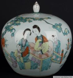 China 19. Jh. Qing - A Chinese Famille Rose Jar Porcellana Cinese Chinois Fencai