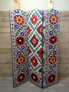Suzani Folding Screen by chezboheme on Etsy, $650.00