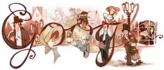 The birthday of Charles Dickens earlier this year was celebrated with a doodle featuring characters from his novels, including Scrooge, Bob Cratchit and Pip, on 6 February. Best Google Doodles, Doodle 4 Google, Art Beauté, Little Dorrit, Oliver Twist, Doodle Designs, Doodle Ideas, Doodle Inspiration, Design Inspiration