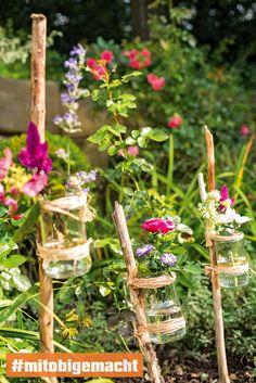 Kreative Selbstbauhacks für deinen Blumengarten.