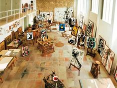 Inside Miro's Studio, Mallorca  / I could only dream. Ange  A studio needs to have three key elements for me space, light and storage. But be very simple