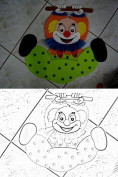 Clown Crafts, Circus Crafts, Carnival Crafts, Applique Patterns, Applique Designs, Kids Bulletin Boards, Clown Party, Clown Faces, Send In The Clowns
