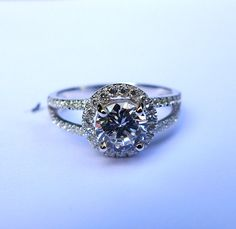 Solid Sterling Silver&CZ Engagement Ring by SterlingSilverJewels
