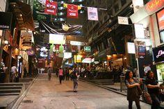 Lan Kwai Fong (Hong Kong, China) - all the night life action