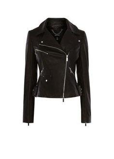À vendre sur #vintedfrance ! http://www.vinted.fr/mode-femmes/vestes-en-cuir/32540863-veste-en-cuir-noir-karen-millen-neuve