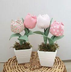 más y más manualidades: Aprende como hacer tulipanes de tela