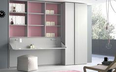 Composición de armario y cama abatible horizontal