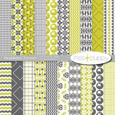 Digital Scrapbook Paper Pack    Dearborn Tiffany by mooandpuppy, $3.50