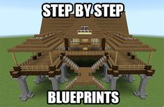 Get step by step blueprints for this house plus a bunch more! Minecraft Blueprints by Drake Craft