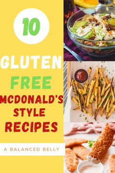 These gluten free McDonalds style recipes are perfect if you're craving McDonalds but want a healthier alternative that can be made gluten and dairy free. If you're looking for a gluten-free big mac, the perfect gluten-free fries or gluten-free vegan dippers give these a try! Healthy Mcdonalds, Mcdonalds Recipes, Free Mcdonalds, Hamburger Salad Recipe, Sweet Potato Hash Browns, Dairy Free Breakfasts, Big Mac, Copycat Recipes, Vegan Gluten Free