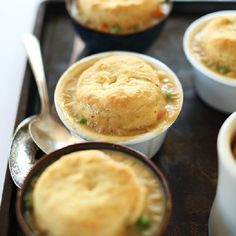 1 Hour Vegan Pot Pies topped with from-scratch flaky biscuits!