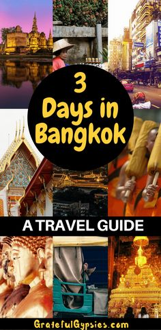 Check out this 3-day itinerary for Bangkok. You'll see temples, night markets, gorgeous shopping malls, and nightlife. Bangkok is a must-visit for travel in Thailand. #bangkok #thailand #travel