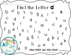 Give students practice with b/d confusion with these letter searches. Students will find all the b's or d's and count them to write on the page. Great for literacy centers! Beginning Of Kindergarten, Free Kindergarten Worksheets, School Worksheets, Preschool Printables, Kindergarten Reading, Kindergarten Teachers, Worksheets For Kids, Teaching Reading, Phonics Activities