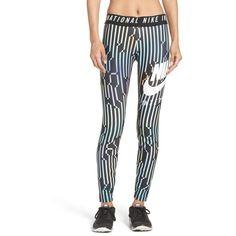 Women's Nike International Leggings ($65) ❤ liked on Polyvore featuring activewear, activewear pants, nike activewear, nike sportswear, athletic sportswear, nike activewear pants and nike