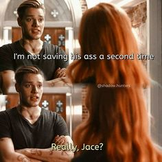 "#Shadowhunters 1x04 ""Raising Hell"" - Jace and Clary"