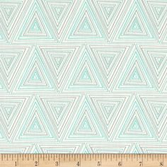 Art Gallery Minimalista Prisma Turquoise from @fabricdotcom  From Art Gallery, cotton print is perfect for quilting, apparel and home decor accents. Colors include turquoise, grey and white. Art Gallery Fabric features 200 thread count of finely woven cotton.