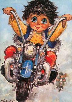 Ballade en moto - Michel Thomas - motorcycles