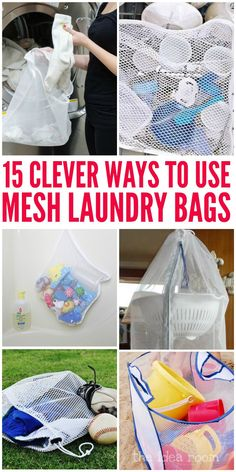 Laundry bags aren't just for clothes! These tips, ideas, and diy tricks will have you rethinking how you use mesh laundry bags forever!