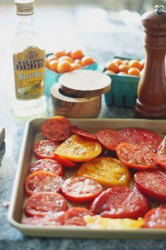 Roasted heirloom tomatoes. #whole30
