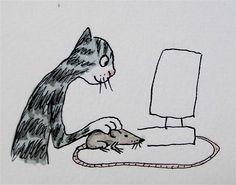 monday matticchio - cat with mouse