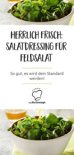 Salatdressing für Feldsalat The salad dressing for your lamb's lettuce tastes wonderfully fresh and light! Instead of heavy mayo, vegetable broth and oil are used in the dressing. Highlight: the p Salad Recipes Healthy Vegetarian, Vegetable Soup Healthy, Salad Recipes For Dinner, Vegetarian Lunch, Easy Healthy Recipes, Healthy Snacks, Vegetable Salad, Vinaigrette, Great Appetizers