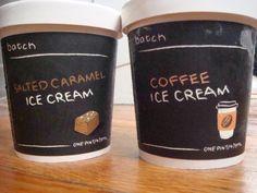 salted caramel and coffee batch ice cream