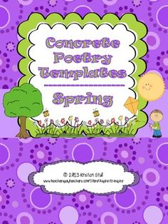 Spring Concrete Poetry Templates