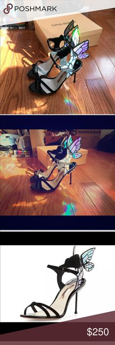 Sophia Webster holographic butterfly heels Brand new. Never worn. Size 7 / 38. Gorgeous heels with holographic butterfly. Price reflects authenticity. Last buyer choose to cancel this beautiful order. Her lose, your gain :) Sophia Webster Shoes