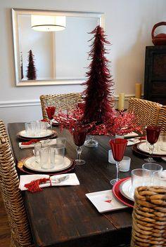 #christmas dinner table setting