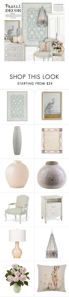 """""""Pastel Home Decor"""" by thewondersoffashion ❤ liked on Polyvore featuring interior, interiors, interior design, home, home decor, interior decorating, nuLOOM, John-Richard, Jay Strongwater and Surya"""