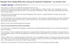 Every once in a while, it is important to take some time out for yourself and do things that make you feel better. You may indulge in a hobby or take a trip. Sometimes, you may also want to pamper your body and treat it to something a little special. That's where spas and healthcare centers for the body come in.