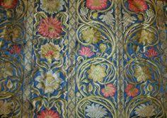SILK LOOM Art Nouveau LIBERTY Silk Damask by elegantfabrics1
