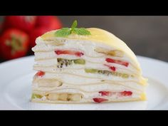Fruit Mille Cake - made with crepes and fresh fruit