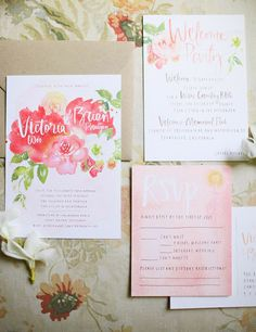 Floral Wedding Invitations  20 Beautiful Wedding Invitation Ideas