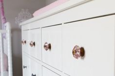 pink knobs from Athropologie