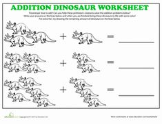 math color by number addition dinosaur kindergarten grade 1 dinosaurs pinterest. Black Bedroom Furniture Sets. Home Design Ideas