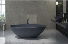 Image result for small free standing round stone bath