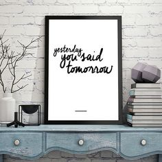Typography Poster Wall Decor Inspirational Print by HelloTypo
