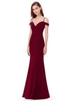 In Stock Exquisite Venetian Spaghetti Straps Neckline Sheath Column Prom  Dress 02bd18ab801e
