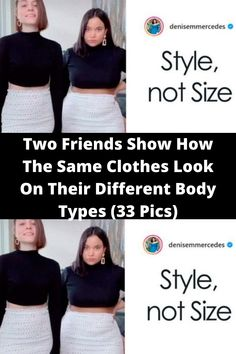 Two #Friends Show How The Same #Clothes Look On Their Different #Body Types (33 Pics) Health Planner, Body Picture, Light Jeans, Friends Show, Dance Videos, Black Crop Tops, Funny Moments, Summer Looks, Body Types