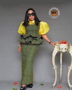 2019 Trendy and Lovely Ankara Skirt and Blouse Latest African Fashion Dresses, African Dresses For Women, African Attire, African Wear, African Clothes, Lace Skirt And Blouse, Ankara Skirt And Blouse, Dress Skirt, Skirt Fashion
