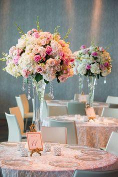 Pink nashville warehouse wedding wedding reception decor 22 spectacular floral wedding centerpieces for every bride junglespirit Choice Image