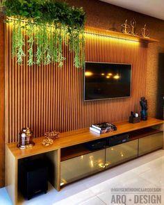 The Best 2019 Interior Design Trends - DIY Decoration Ideas Living Room Wall Units, Living Room Tv Unit Designs, Living Room Decor, Tv Unit Decor, Tv Wall Decor, Tv Wall Design, House Design, Tv Cabinet Design, Design Design