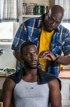 Two GORGEOUS black brothas. Absolutely just love me a dark skinned clean cut man. Oooowweee!