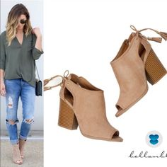 🆕MILA ROSE open bootie- TAUPE Faux suede. Super comfy. Runs slightly big. Jazz up any outfit with these ankle fun tassel cut out booties.   🚨NO TRADE, PRICE FIRM🚨 Bellanblue Shoes Ankle Boots & Booties